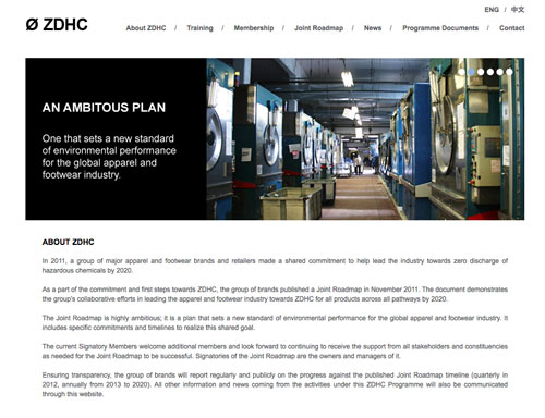 ZDHC web-page