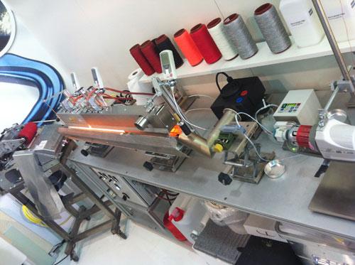 Rudolf yarn coating machine