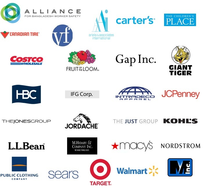 Apparel company and retailer members of the Alliance for Bangladesh Worker Safety