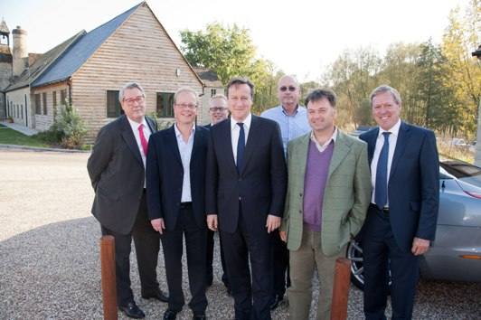 UK Prime Minister David Cameron visits Historic Futures