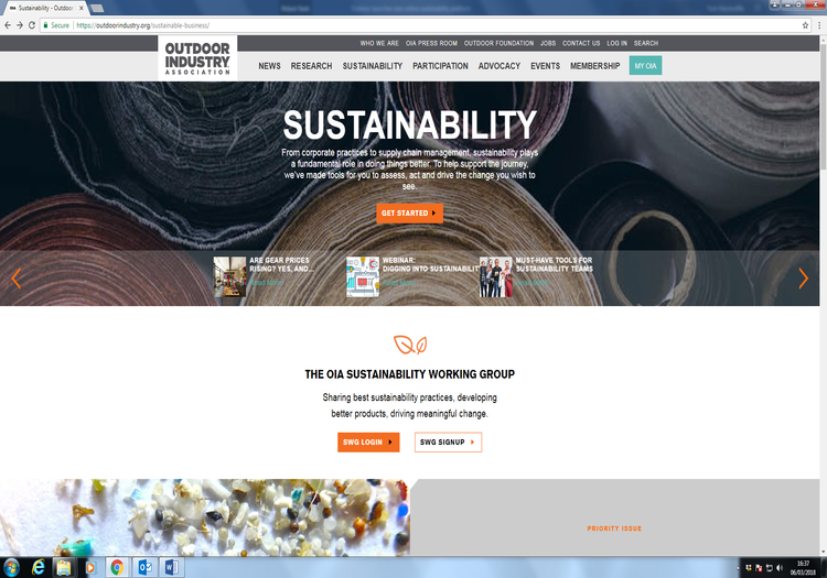 Outdoor Industry Association launches online sustainability