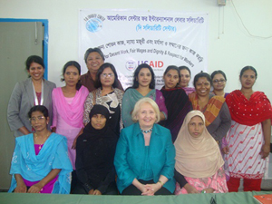 Garment workers and US Ambassador