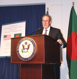 Ambassador Froman speaks at the signing of the U.S.-Bangladesh Trade and Investment Cooperation Forum Agreement